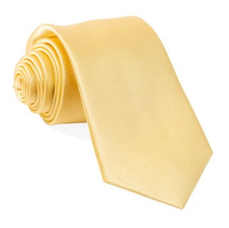 Solid Satin Butter Tie