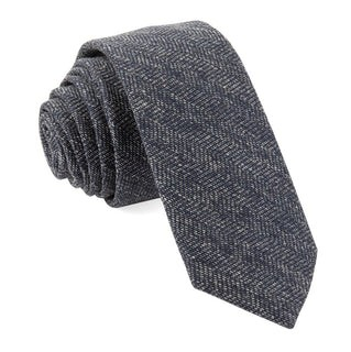Bhldn Threaded Zig-Zag Navy Tie