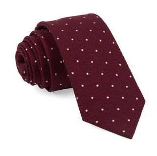 Mumu Weddings - Dotted Retreat Merlot Tie