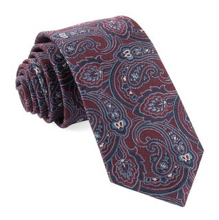 Tailored Paisley Red Tie
