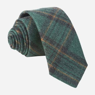 Barberis Wool Allegro Green Tie