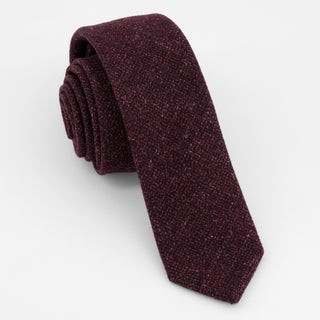Barberis Wool Vestito Burgundy Tie