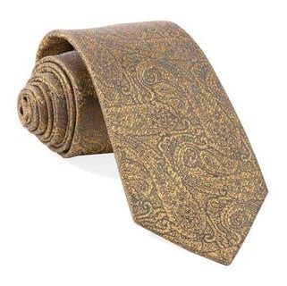 Estate Paisley Gold Tie