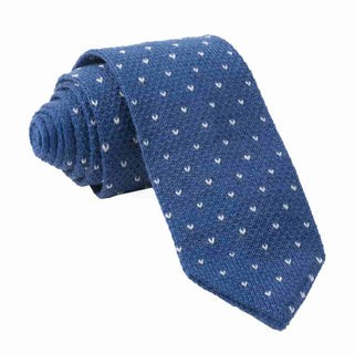 Birdseye Knit Classic Blue Tie