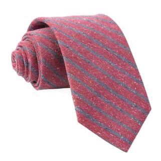 Low Tide Stripe Raspberry Tie