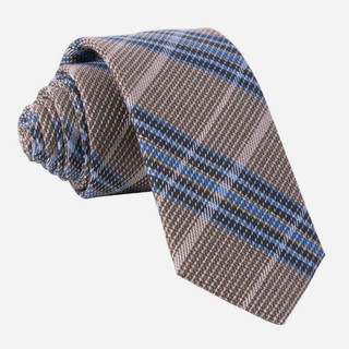 Riviera Plaid Brown Tie