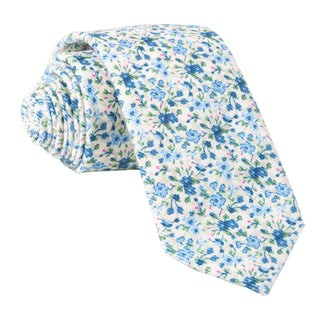 Freesia Floral Light Champagne Tie