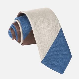 The Mega Stripe Brown Tie