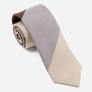 The Mega Stripe Beige Tie