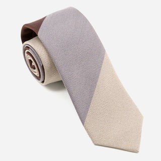 The Mega Stripe Beige Tie