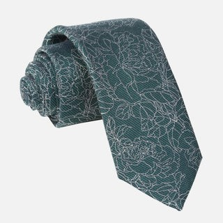Lace Floral Hunter Green Tie