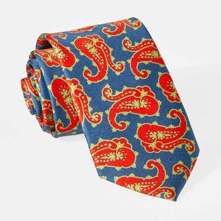 Wild Paisley Orange Tie