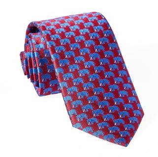 Republican Elephant Red Tie