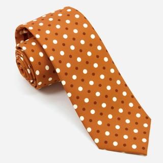Hidden Dots Burnt Orange Tie
