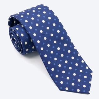 Hidden Dots Denim Blue Tie