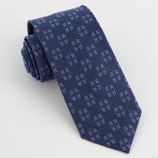 Monogram Navy R Tie