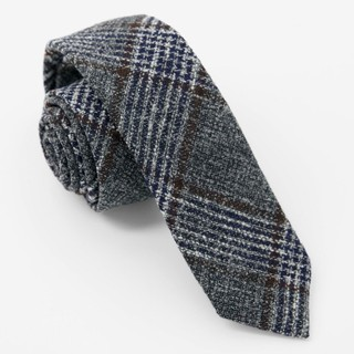 Barberis Wool Grigio Grey Tie