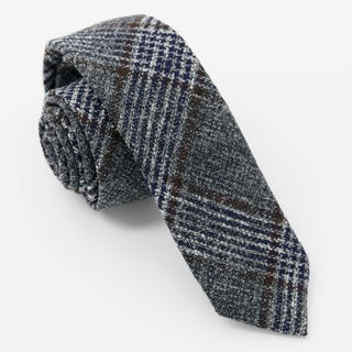 Barberis Wool Grigio Grey Tie