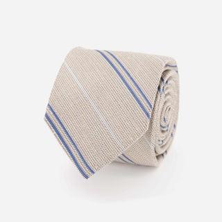 Bali Double Stripe Khaki Tie