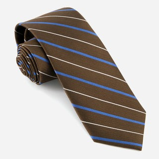 Bali Repeat Stripe Chocolate Brown Tie