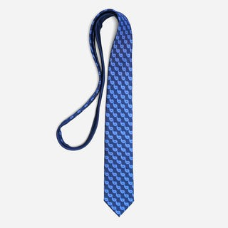 Tie Bar x Michel Men Classic Paisley Navy Tie