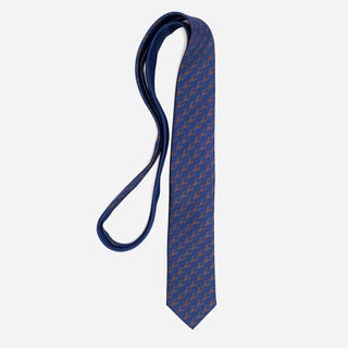 Tie Bar x Michel Men Monogram Chocolate Brown Tie
