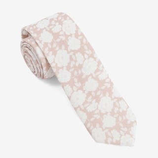 Floral Buds Champagne Tie