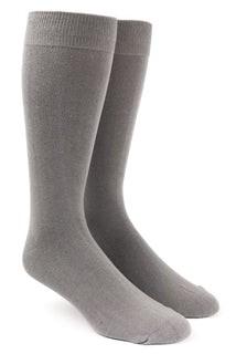 Solid Grey Dress Socks