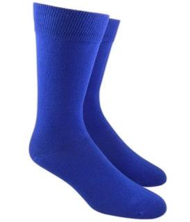 Solid Royal Blue Dress Socks