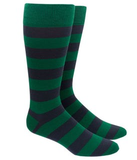 Super Stripe Green Dress Socks