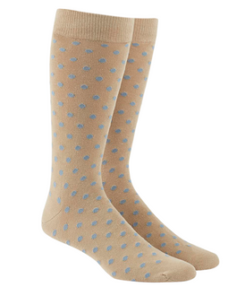 Circuit Dots Light Blue Dress Socks