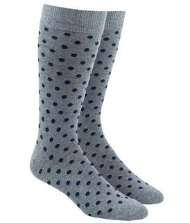 Circuit Dots Navy Dress Socks