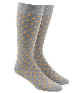 Circuit Dots Yellow Dress Socks