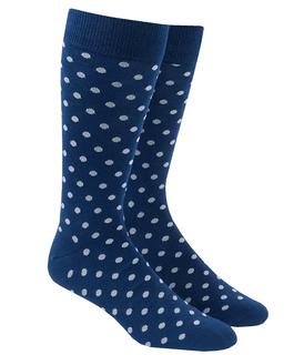 Circuit Dots Grey Dress Socks