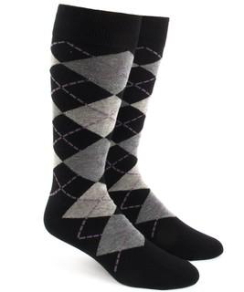 Argyle Warm Grey Dress Socks