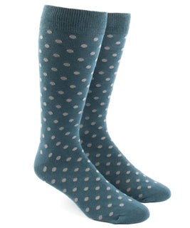 Circuit Dots Teal Dress Socks