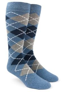 Argyle Blue Dress Socks