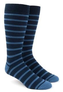 Trad Stripe Light Blue Dress Socks