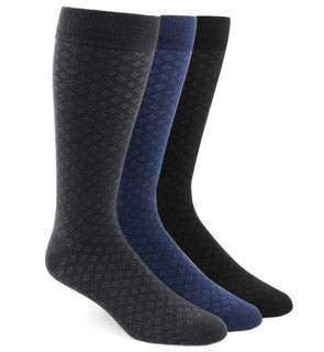 The Speckled Sock Pack Black Dress Socks