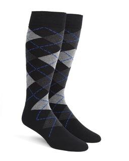 Argyle Black Dress Socks