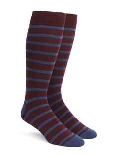 Trad Stripe Wine Dress Socks