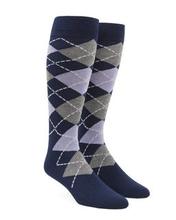 Argyle Lilac Dress Socks