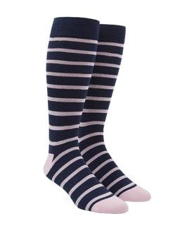 Trad Stripe Light Pink Dress Socks