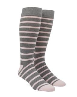 Trad Stripe Blush Pink Dress Socks