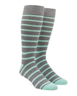 Trad Stripe Mint Dress Socks