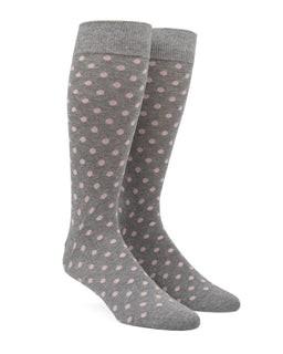 Circuit Dots Blush Pink Dress Socks