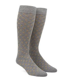 Circuit Dots Champagne Dress Socks