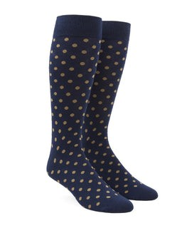 Circuit Dots Light Champagne Dress Socks