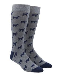 Dog Days Navy Dress Socks