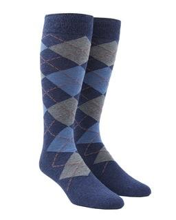 Argyle Light Blue Dress Socks